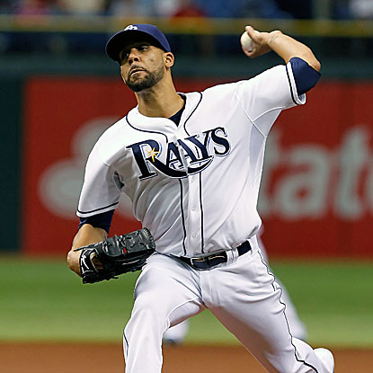 The Rays' David Price scatters five singles en route to his second career shutout, defeating the Angels.  (Getty Images)