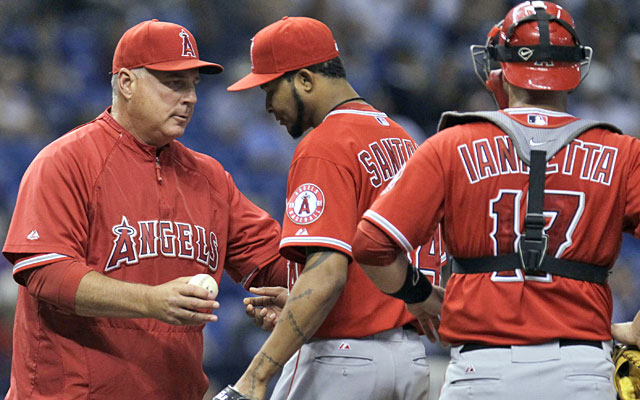 Mike Scioscia isn't getting the best Ervin Santana and Co. have to offer so far this season. (AP)