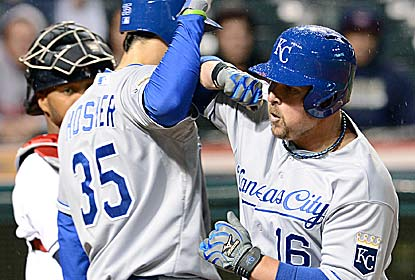 Billy Butler hits two of the Royals' four homers as they end a skid (12) that was tied for the club's third longest. (Getty Images)