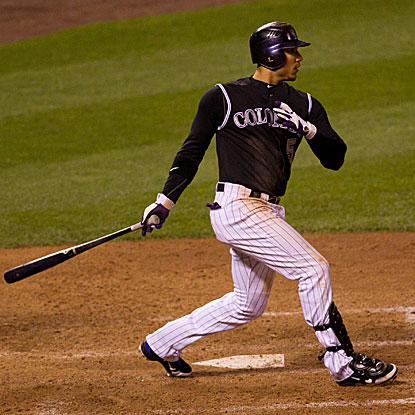 Carlos Gonzalez goes 3 for 6 with a homer and three RBI in the Rockies' lopsided win over the Mets.  (US Presswire)