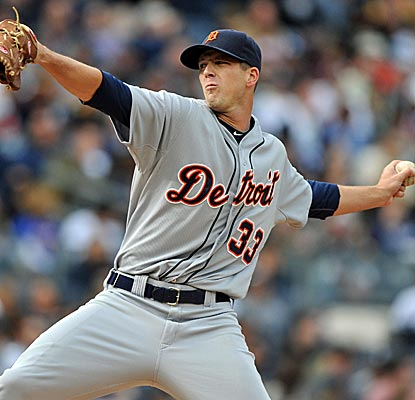 Tigers starter Drew Smyly gives up just two hits while striking out seven over six innings against the Yankees.  (Getty Images)