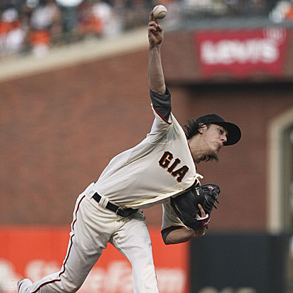 Tim Lincecum allows three hits and no earned runs in eight innings to win his second consecutive start.  (US Presswire)