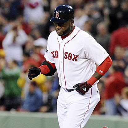 David Ortiz hits two home runs in the Red Sox's win over the Athletics, completing the best April of his career. (US Presswire)