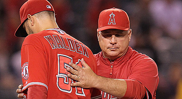 The Angels' bullpen has struggled this season, as Jordan Walden lost his closer's role last week. (Getty Images)