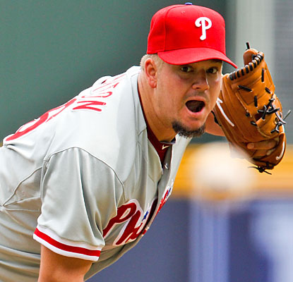 Joe Blanton needs just over two hours and only 88 pitches to complete his first shutout in five years.  (US Presswire)