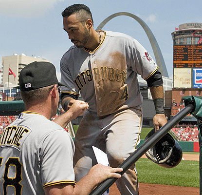 Pedro Alvarez has a big game in the shadow of the Arch, putting the Pirates ahead with a two-run home run in the sixth.  (US Presswire)