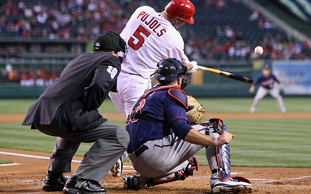 Albert Pujols has not hit a home run in 33 games with the Angels. (Getty Images)
