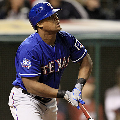 Adrian Beltre's first pinch-hit HR in almost 12 years breaks an 11th-inning tie and sends the Rangers past the Indians.  (AP)