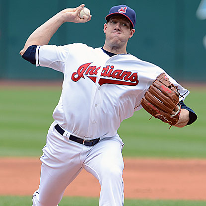 In his fifth career start, the Indians' Zach McAllister allows two earned runs in six innings to record his first MLB victory.  (Getty Images)