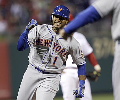 Jordany Valdespin's first major-league hit turns out to be the first three-run home run ever given up by Jonathan Papelbon.  (AP)