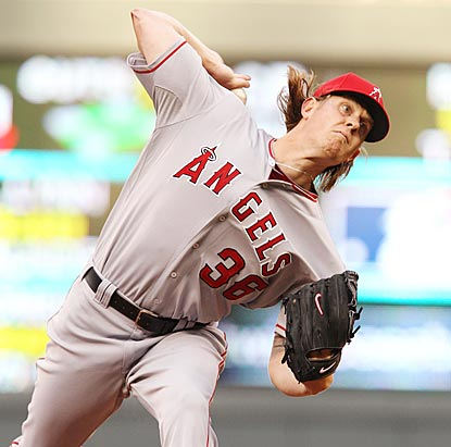 Jered Weaver's no-hit bid lasts until only the third inning, yet he's mostly effective in six innings of three-hit ball.  (AP)