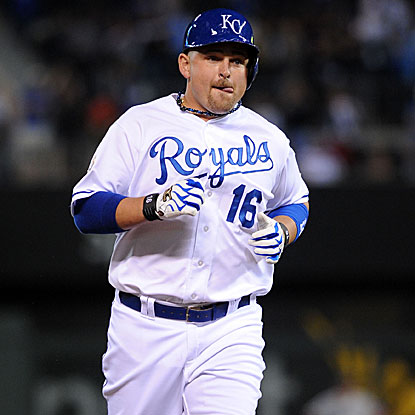 Billy Butler's towering three-run homer in the eighth inning is the difference in the Royals victory against the Red Sox.  (US Presswire)