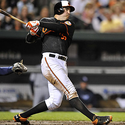 Nick Johnson's first home run in two years is the difference in the Orioles' win against the Rays.  (AP)