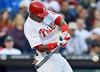 John Mayberry Jr. homers and drives in three runs for the Phillies, who end a three-game losing streak. (Getty Images)