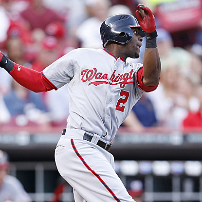 Roger Bernadina homers and drives in three runs to help the Nationals match their season high in runs scored.  (Getty Images)