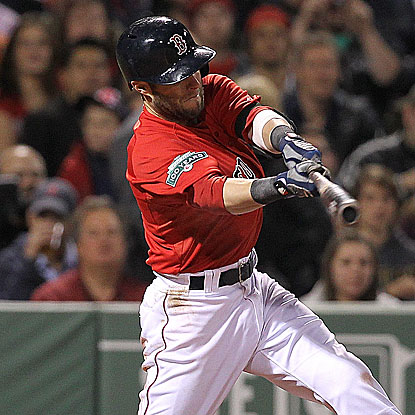Dustin Pedroia collects three hits and three RBI to pace the Red Sox in their win against the Indians.  (Getty Images)