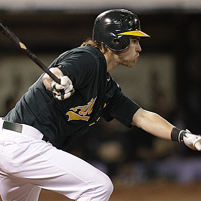 Josh Reddick hits two home runs and picks up a career-best five RBI as the Athletics pound the Tigers.  (AP)