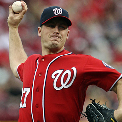 Jordan Zimmermann continues the Nationals' run of quality starts with a strong performance against the Reds.  (AP)