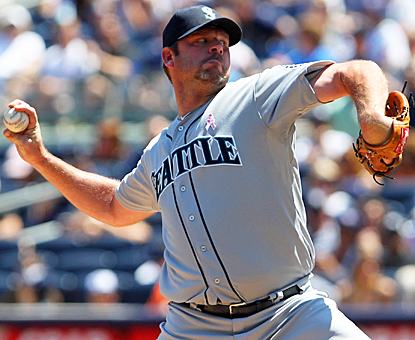 Kevin Millwood steals Andy Pettitte's thunder by giving up just one earned run on three hits for his first win of the season. (US Presswire)