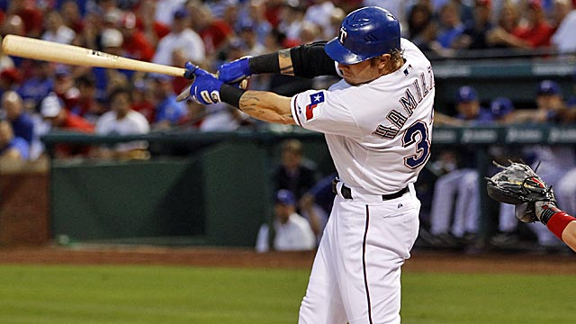 Josh Hamilton has homered in six of his last 10 games. (US Presswire)
