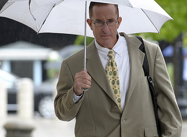 Brian McNamee, the prosecution's key witness, appears at federal court on Monday. (AP)
