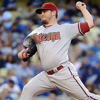 Wade Miley allows eight hits and one earned run in 6 2/3 innings of work to earn the win for the Diamondbacks.  (Getty Images)