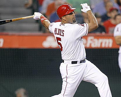With this three-run blast, Albert Pujols has four hits and five RBI in his past two games.  (AP)