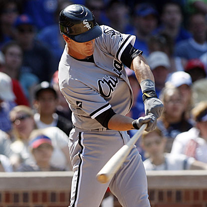 Gordon Beckham's tie-breaking home run in the eighth inning stands as the winning run for the White Sox.  (US Presswire)