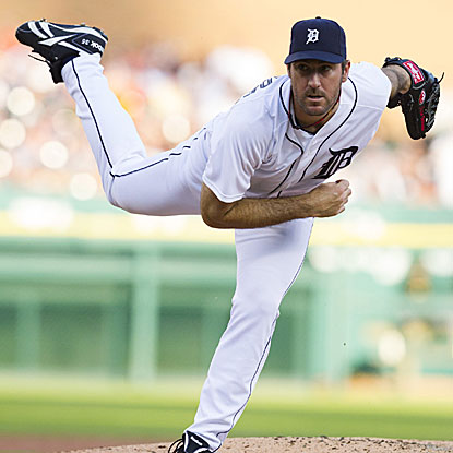 Justin Verlander comes within two outs of no-hitting the Pirates, striking out 12 and walking two in the Tigers' win.  (US Presswire)