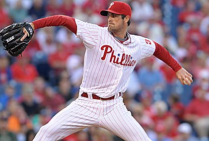 Cole Hamels strikes out nine over seven innings for his sixth straight win. He also improves to 4-0 in five starts vs. Boston. (US Presswire)