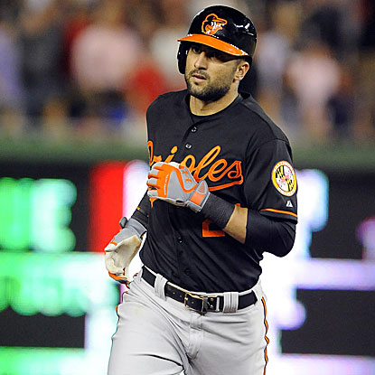 Nick Markakis' HR in the 11th inning beats the Nats and gives the Orioles their fourth straight victory.  (US Presswire)