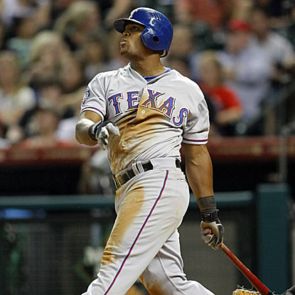 Adrian Beltre goes 2 for 3 with a solo home run to lead the Rangers past the Astros.  (US Presswire)