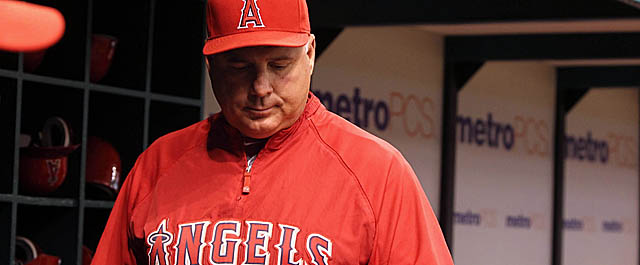 With his Angels underachieving, Mike Scioscia doesn't seem so untouchable all of a sudden. (US Presswire)
