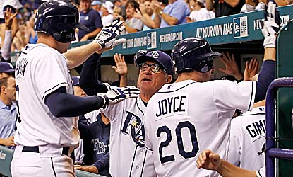 Matt Joyce receives praise from his manager and teammates after hitting his third career grand slam. (Getty Images)