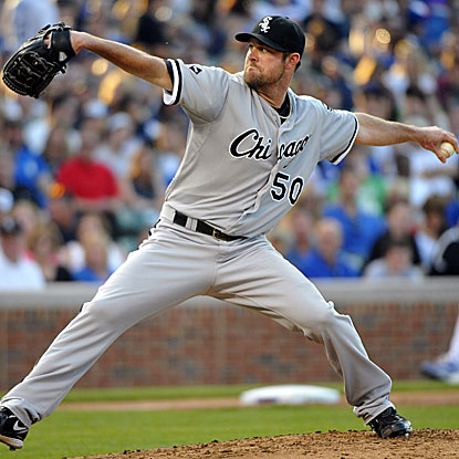 The White Sox's John Danks throws 6 1/3 scoreless innings to beat the Cubs and earn his first victory in almost a month.  (US Presswire)