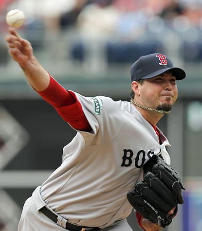 Josh Beckett has another impressive start as he holds the Phillies to just one run through 7 2/3 strong innings. (AP)