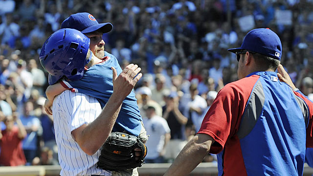 Kerry Wood gives Cubs fans an emotional finale to his illustrious career. (Getty Images)