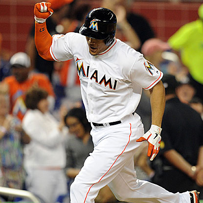 Giancarlo Stanton's grand slam off Rockies' starter Jamie Moyer highlights a five-run inning for the  Marlins.  (US Presswire)