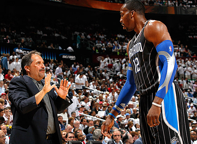 With Van Gundy gone, Howard will have to stand taller if he stays in Orlando. (Getty Images)