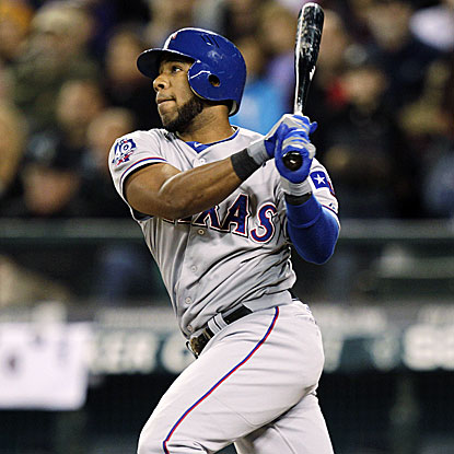 Elvis Andrus' two-run triple provides all the scoring the Rangers need to defeat the Mariners.  (AP)