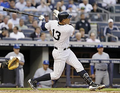 In his previous 22 games, Alex Rodriguez had only one home run and four RBI. He belts two with three RBI on Wednesday.  (AP)