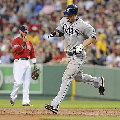 Matt Joyce connects for his second grand slam in 13 at-bats to lead the Rays over the Red Sox.  (US Presswire)