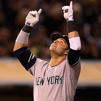 Nick Swisher homers, doubles and knocks in two runs for the Yankees in their seventh straight victory in Oakland.  (Getty Images)