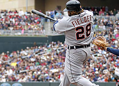 Prince Fielder records his first four-hit game (4 for 4) since joining the Tigers in the offseason. (AP)