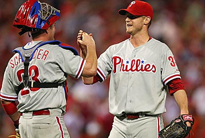 Phillies starter Kyle Kendrick earns his first win of the year in shutout fashion against the Cardinals.  (Getty Images)