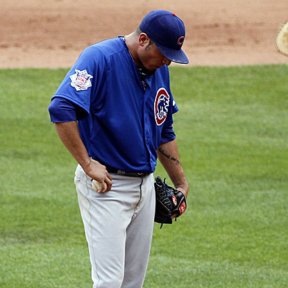 The Cubs starter Matt Garza could not get out of the sixth inning where the Pirates broke open the game with six runs.  (Getty Images)