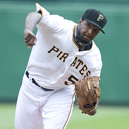 Starter James McDonald retires the final 12 batters he faces to lead the Pirates past the Reds.  (US Presswire)