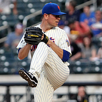The Mets' Jeremy Hefner is the first player since 2002 to earn his first MLB win and hit his first home run in the same game.  (US Presswire)