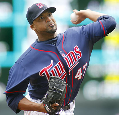 The Twins' Francisco Liriano makes the most of his return to the rotation as he strikes out nine in six shutout innings. (AP)