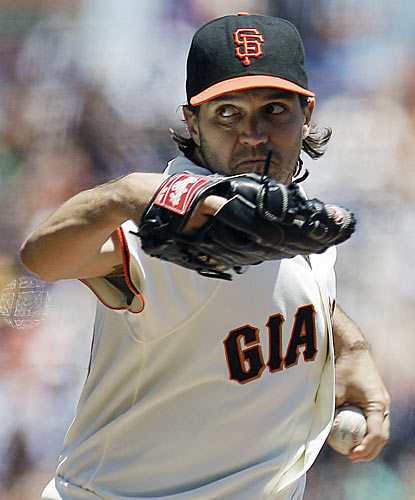The Giants' Barry Zito reaches a milestone by locking down his 150th career win. (AP)
